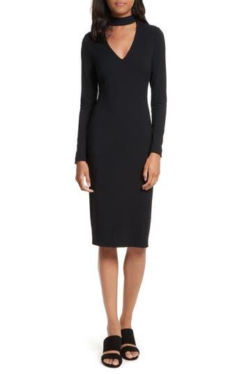 Rebecca Minkoff Lenni Choker Sheath Dress, Black