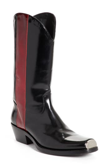 Calvin Klein 205W39Nyc Chris Western Metal Tip Boot, Black