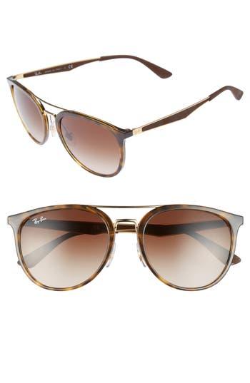 Ray-Ban 55Mm Gradient Lens Sunglasses - Light Tortoise