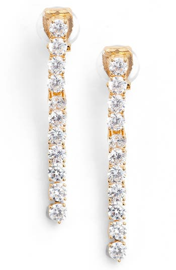 Women's Nadri Cubic Zirconia Linear Drop Earrings