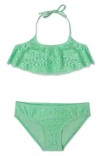 Girl's Gossip Girl Ruffle Two-Piece Swimsuit