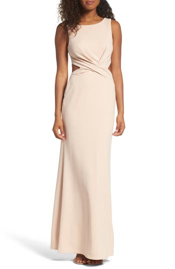 Lulus Cutout Mermaid Gown, Pink