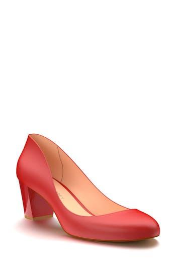 Shoes Of Prey Block Heel Pump, Red