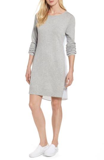 Caslon Woven Back Sweatshirt Dress
