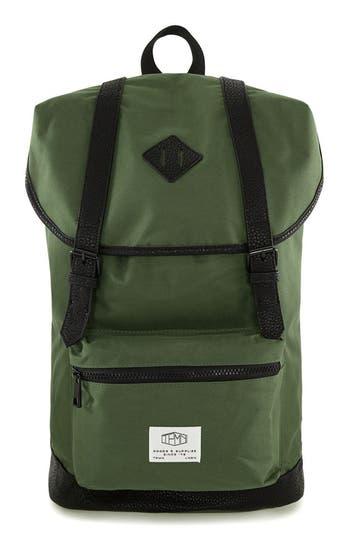 Topman Explorer Flap Top Backpack - Green