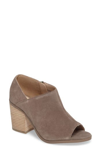 Sole Society Arroyo Peep Toe Bootie- Grey