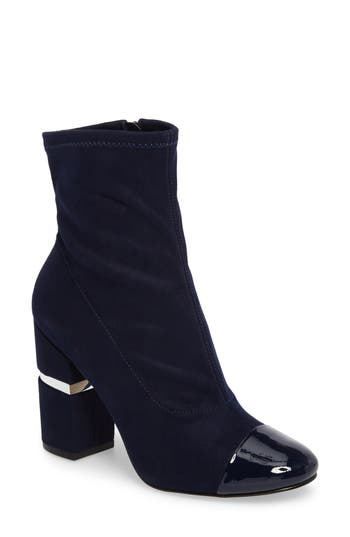 Marc Fisher Ltd Prisa Cap Toe Bootie- Blue