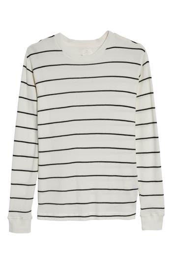 Rvca Neutral Stripe Thermal T-Shirt, White