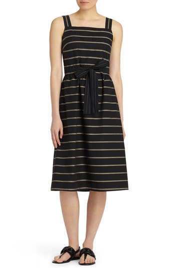 Lafayette 148 New York Lorelei Vesterbro Stripe Dress, Black