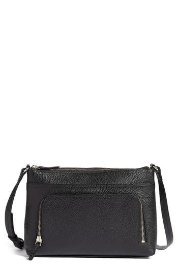 Nordstrom Pebbled Leather Crossbody Bag - Black