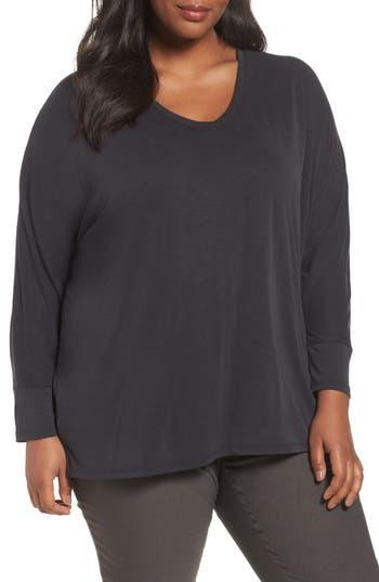 Plus Size Nic+Zoe Cloud Nine Top, Black
