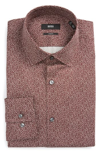 Men's Boss Jenno Slim Fit Print Dress Shirt