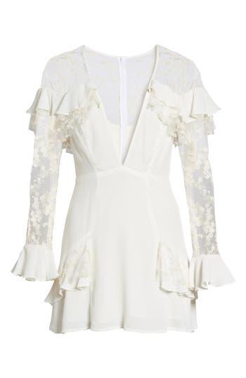 For Love & Lemons Rosebud Minidress, Ivory