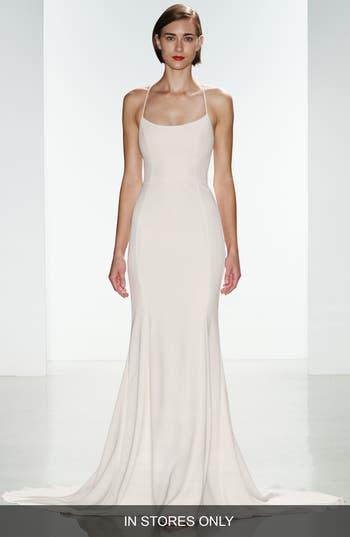 Nouvelle Amsale Audrey Crepe Racerback Gown