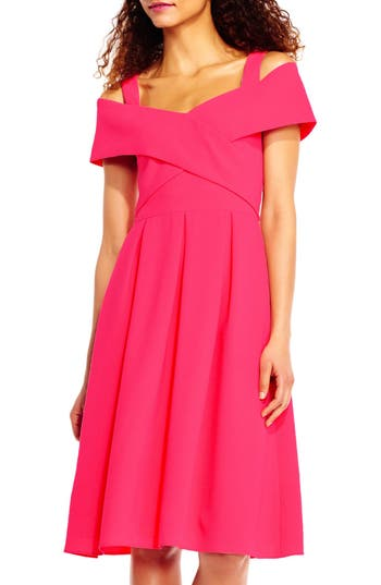 Adrianna Papell Off The Shoulder Dress, Pink