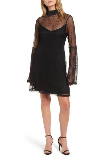 Somedays Lovin Starry Eyed Mesh Minidress, Black