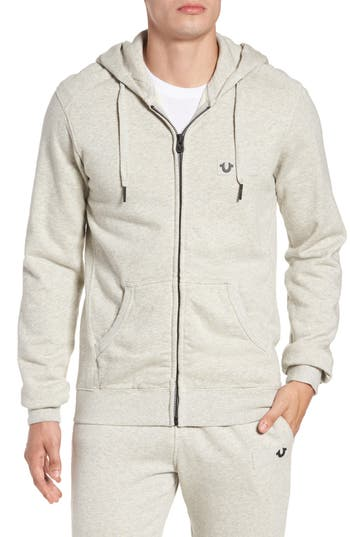 True Religion Brand Jeans Metal Horseshoe Hoodie, Grey