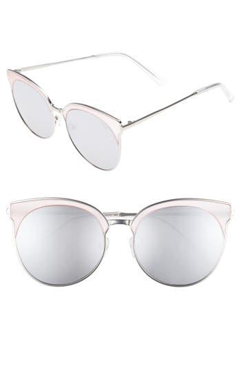 Quay Australia Mia Bella 5m Sunglasses - Pink/ Silver