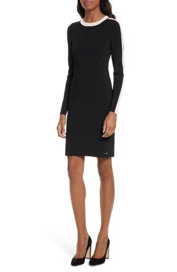 Ted Baker London Palit Stripe Sweater Dress, Black