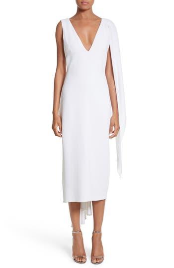 Cushnie Et Ochs Leta Drape Dress, White
