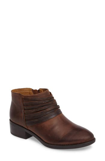 Comfortiva Corliss Strappy Bootie, Brown