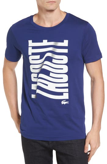 Lacoste Vertical Graphic T-Shirt, Blue