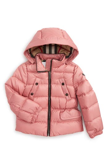 Girl's Burberry Bronwyn Quilted Down Jacket