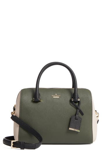 Kate Spade New York Cameron Street Large Lane Leather Satchel - Green