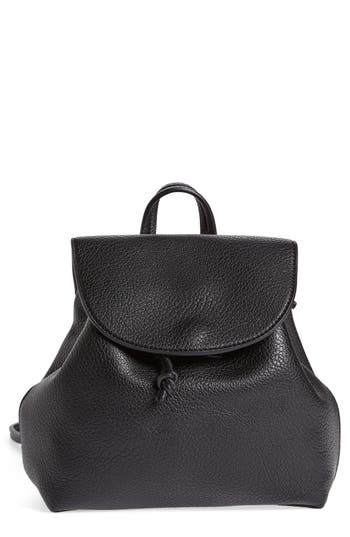 Sole Society Jaylee Faux Leather Mini Backpack - Black