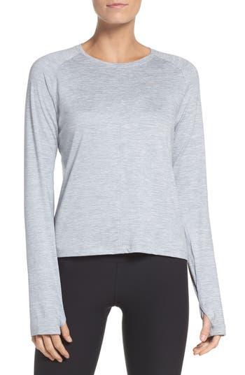 Nike Dry Element Crop Top, Grey