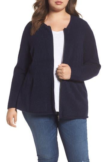 Plus Size Caslon Boucle Jacket, Blue