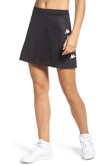 Kappa Authentic Pique Skirt, Black