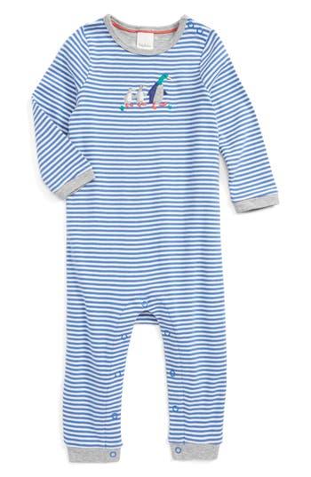 Infant Boy's Mini Boden Mr. Mallard Appliqué Romper