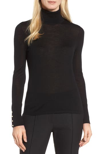 Boss Farrella Wool Turtleneck Sweater, Black