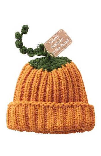 Infant Mud Pie Pumpkin Hat - Orange