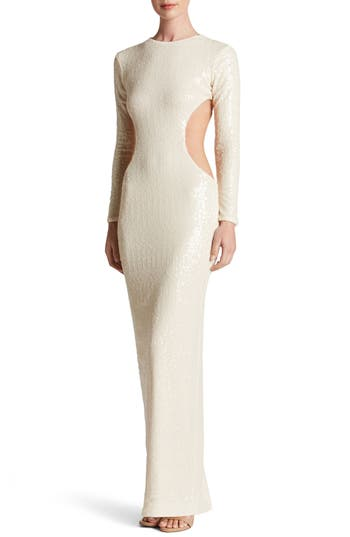 Dress The Population Lara Body-Con Gown, Ivory