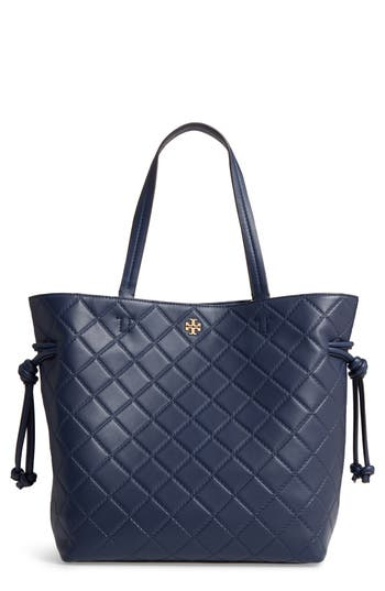 Tory Burch Georgia Slouchy Quilted Leather Tote - Blue