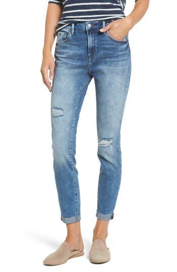 Mavi Jeans Tess Ripped Skinny Crop Jeans, 5 x 27 - Blue