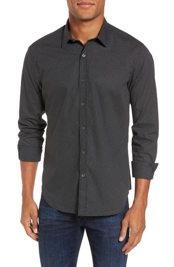Men's Jeff Slim Fit Print Sport Shirt