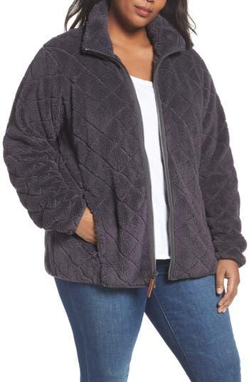 Plus Size Columbia Fireside Fleece Jacket, Grey