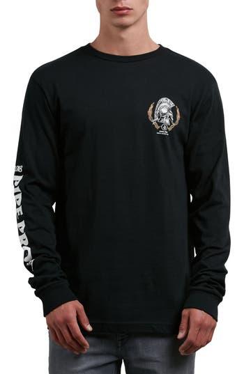 Volcom Pipe Pro Seal Graphic Long Sleeve T-Shirt, Black