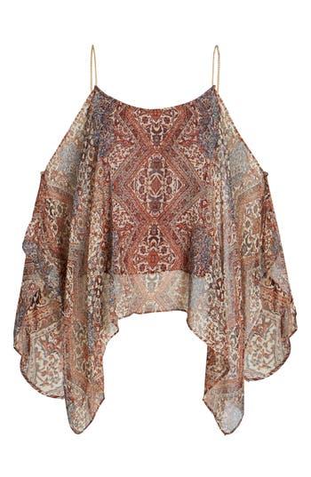 Ella Moss Casablanca Tapestry Silk Blouse, Ivory