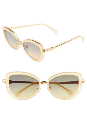 Wildfox Clubhouse 5m Mirrored Sunglasses - Gold