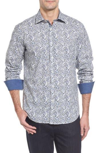 Men's Bugatchi Slim Fit Print Sport Shirt