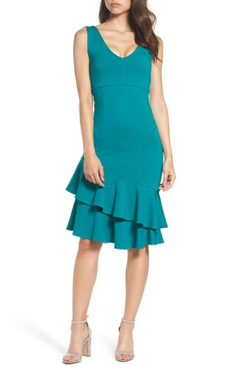 Women's Felicity & Coco Joy Ruffle Midi Dress, Size X-Small - Green