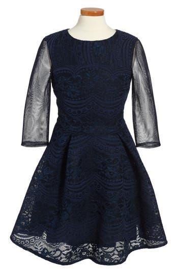 Girl's David Charles Techno Lace Dress