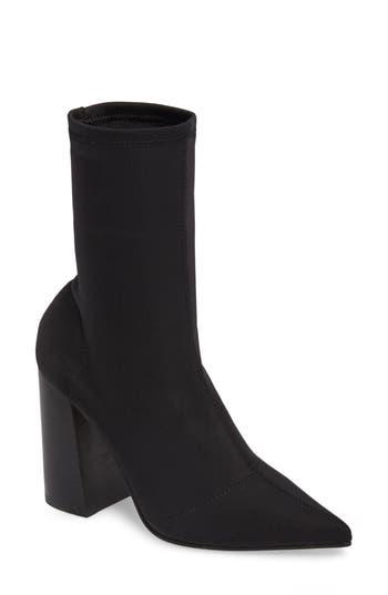 Steve Madden Lombard Pointy Toe Sock Bootie- Black