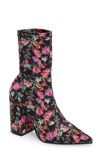 Steve Madden Lombard Pointy Toe Sock Bootie, Pink