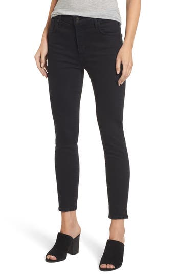 Agolde Sophie Crop High Rise Skinny Jeans, 3 - Grey