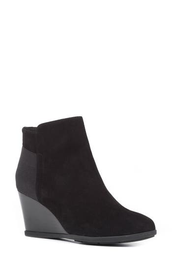 Geox Inspiration Wedge Bootie, Black